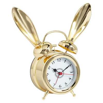 The Emily + Meritt Bunny Alarm Clocks - Gold - Pottery Barn Teen