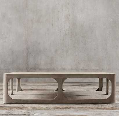 MARTENS SQUARE COFFEE TABLE-aged elm - RH