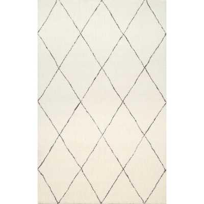nuLOOM Handmade Soft and Plush Moroccan Trellis Shag Rug - 9x12 - Overstock