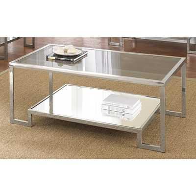 Greyson Living Cordele Chrome and Glass Coffee Table - Overstock