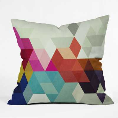 """MODELE 7 Throw Pillow -16"""" x 16""""- Insert included - Wander Print Co."""