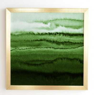 WITHIN THE TIDES FRESH FOREST - 30x30 - Basic gold frame - Wander Print Co.