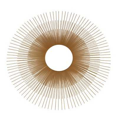 "Oversized Gold Sunburst Mirror - 24"" - Target"