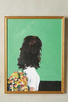 "Spring Dress Wall Art - 27.5""H, 23.5""W - Gold frame - No mat - Anthropologie"