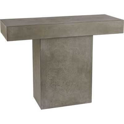 Fuze grey console table - CB2