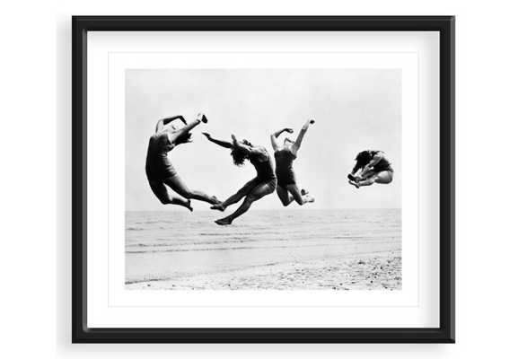 """Beach Exercise, 1935 - 24"""" x 20"""" - Black Frame - With Mat - One Kings Lane"""
