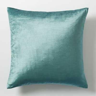 """Luster Velvet Pillow Cover - 20""""sq. - Insert Sold Separately - West Elm"""