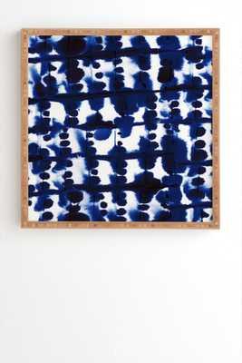 """PARALLEL -12"""" x 12""""-Framed bamboo-no mat - Wander Print Co."""