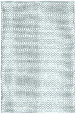 BEATRICE BLUE WOVEN COTTON RUG - 8' x 10' - Dash and Albert
