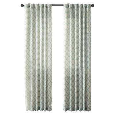 "Nakita Linen Single Curtain Panel - 95"", Aqua - Wayfair"