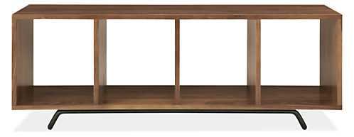 Ferris Cubby Bench - Walnut, Natural steel - Room & Board