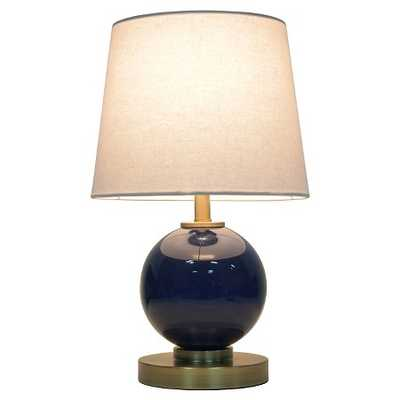 Glass Table Lamp with Touch On/Off - Navy - Target