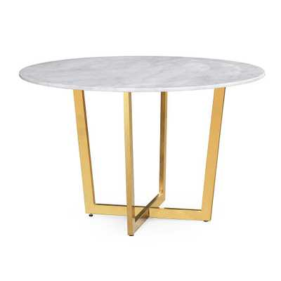 June WHITE MARBLE DINING TABLE (TOP) - Maren Home