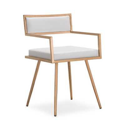Maeve White Croc Arm Chair - Maren Home