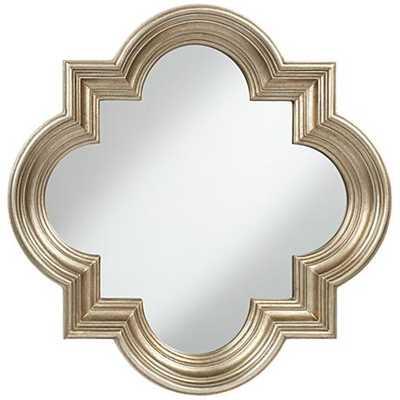 Farley Silver Quatrefoil Mirror - Lamps Plus