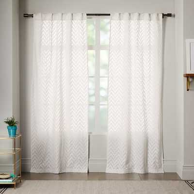 "Sheer Chevron Curtain - 96"" - West Elm"