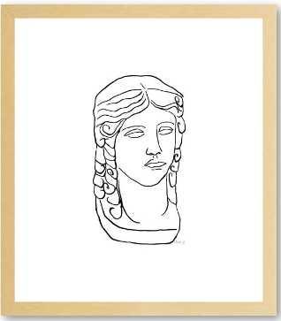 Bust - 10x12'' - gold frame w/ mat - Artfully Walls