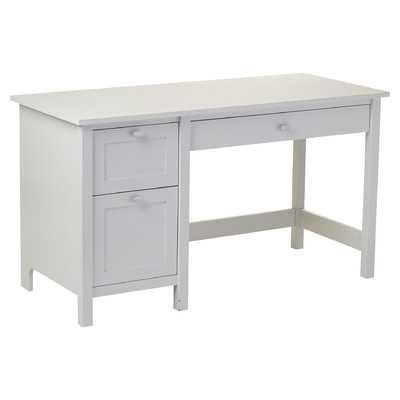 Ackerson Pedestal Computer Desk - White - Wayfair