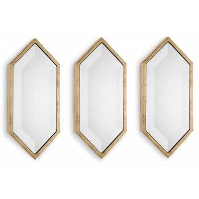 Set of 3 Diamond Wall Panel Mirrors - Regina Andrew
