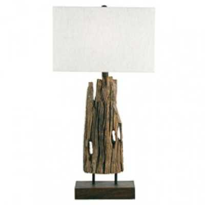 RECLAIMED DRIFT WOOD TABLE LAMP - Regina Andrew