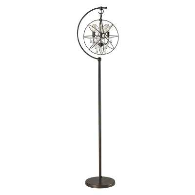 RESTORATION GLOBE FLOOR LAMP WITH CRYSTAL - Rosen Studio