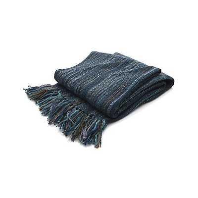 Shelby Blue Throw - Crate and Barrel