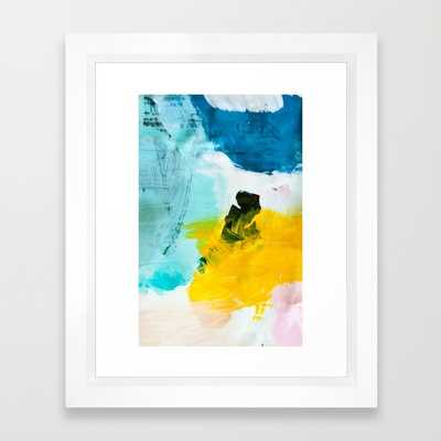 """Palette No. One -10"""" x 12""""-Vector white frame with mat - Society6"""