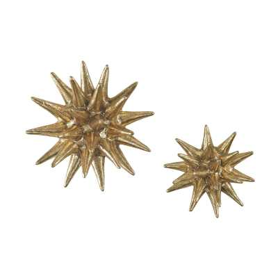 Parsec Composite Wall Decor In Gold - Set of 2 - Rosen Studio
