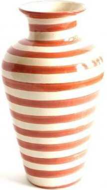 Burnt Orange Striped Vase - Especial - Domino
