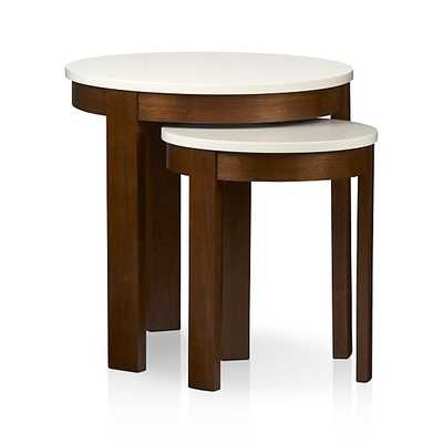 Set of 2 Pastis Nesting Side Tables - Crate and Barrel