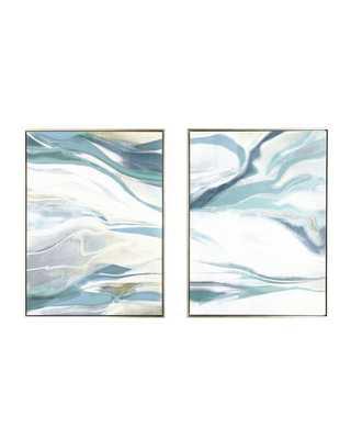 """Cream Dream"" Giclees, 2-Piece Set - 40x54 Framed - Horchow"