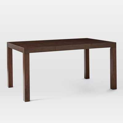 """Parsons Expandable Dining Table, Espresso, 3-Sizes (38""""-62""""-84"""") - West Elm"""