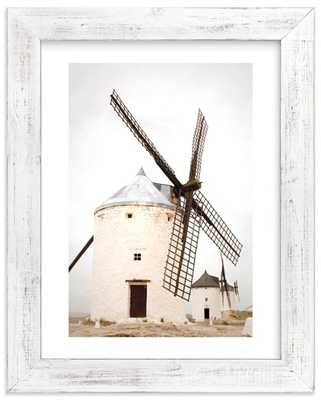 "Consuegra - 18"" x 24"" - Distressed Cottage White Frame-White Border - Minted"