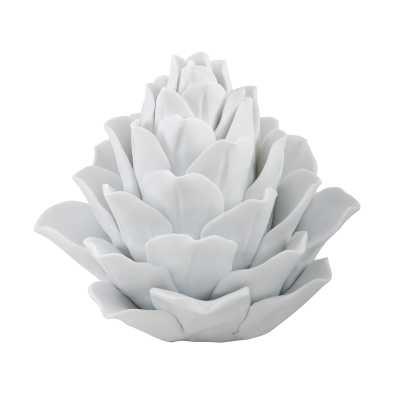 White Porcelain Artichoke - Rosen Studio