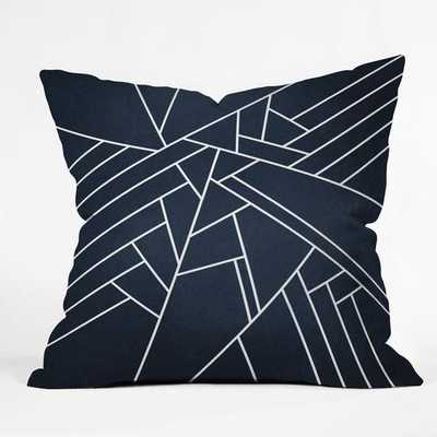 "GEOMETRIC NAVY PILLOW - 16"" x 16"" - With Insert - Wander Print Co."