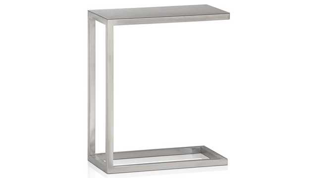 Era Stainless Steel C Table - Crate and Barrel