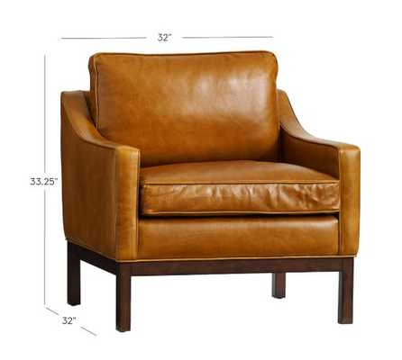 DALE LEATHER ARMCHAIR - Pottery Barn