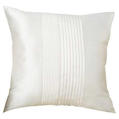 Bradshaw Pleated Throw Pillow, White - 18'' H x 18'' W - Down/Feather Fill - Wayfair