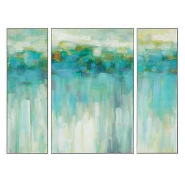 """Beach Lights - Set of 3 - 40"""" x 30"""", Unframed - Z Gallerie"""