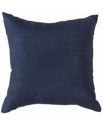"Moselle Indoor/Outdoor Pillow - Navy - 18"" x 18""  - Polyester Filled - Lulu and Georgia"