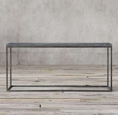 "DELPHINE BLUESTONE & METAL CONSOLE TABLE - 48""W - RH"