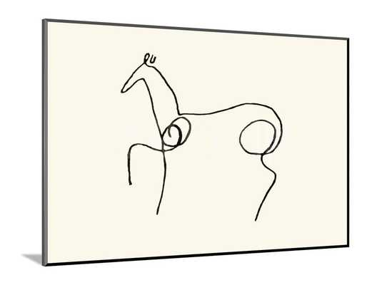 """THE HORSE - 14"""" x 10"""" Mounted Print - Unframed - art.com"""