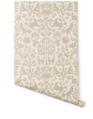 Otomi Wallpaper - Taupe - Hygge & West