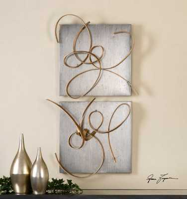 HARMONY METAL WALL DECOR, S/2 - Hudsonhill Foundry