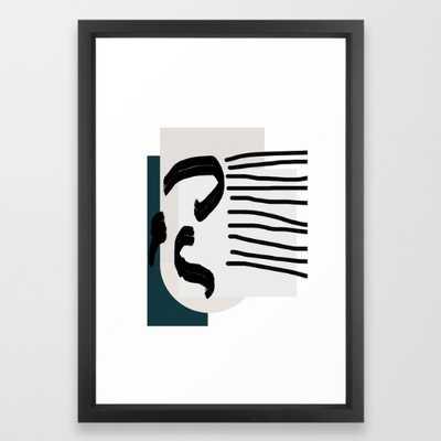 FRAMED ART PRINT VECTOR BLACK SMALL - Society6