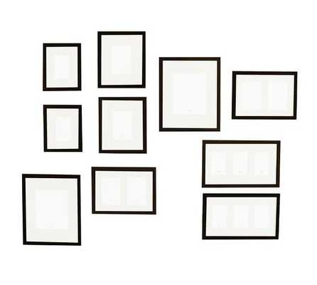 WOOD GALLERY FRAMES IN A BOX - SET OF 10 - Pottery Barn