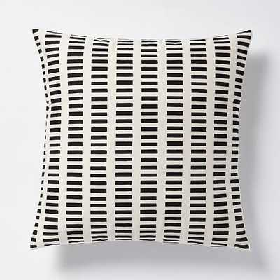 Dusen Dusen Pillow - Black - 20x20 Insert Sold Separately - West Elm