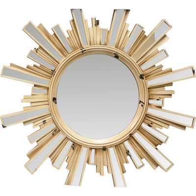 Sunburst Mirror with Inlaid Ray - Wayfair