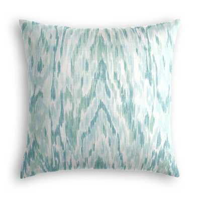 """CUSTOM Throw Pillow  Mirage - Surf Front and Back -No Trim -20"""" x 20"""" Down insert - Loom Decor"""