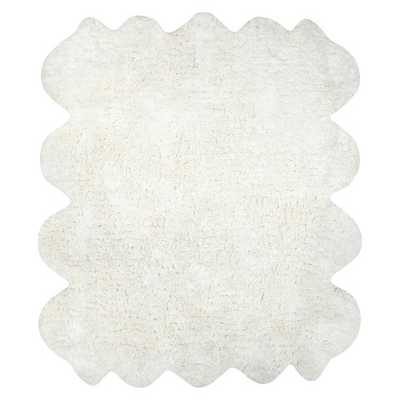 Hand Tufted Octo Pelt Faux Sheepskin Area Rug - Off-White (6' x 7') - Target
